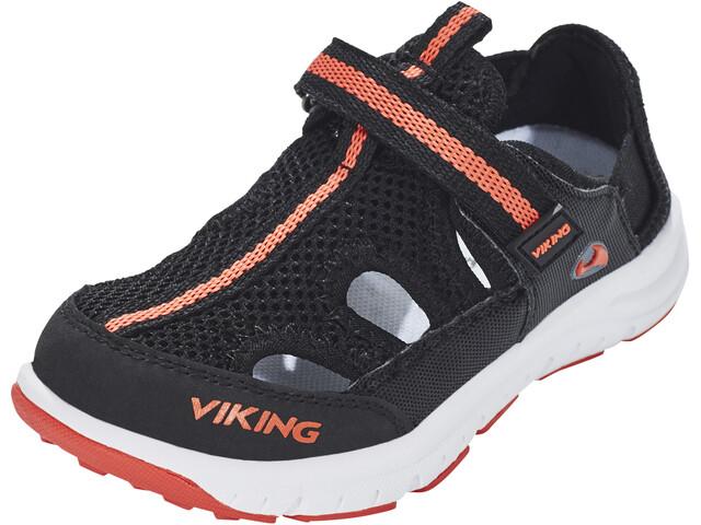 Viking Footwear Nesoeya Chaussures Enfant, black/orange